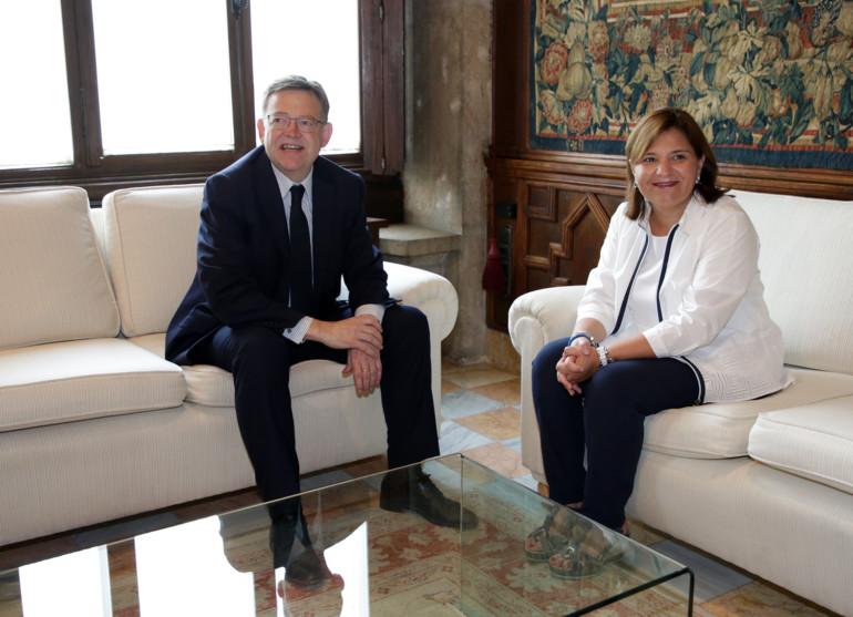 Reunión de Puig con Bonig para hablar de educación y financiación