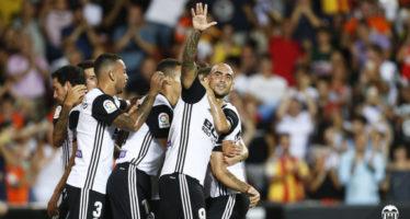 El Valencia CF se estrena con victoria en la Liga (1-0)