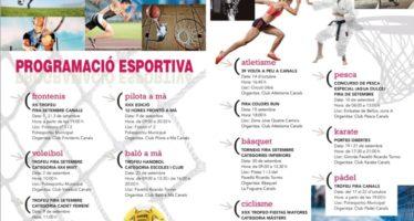 Canals prepara activitats esportives per a la Fira de Setembre 2017