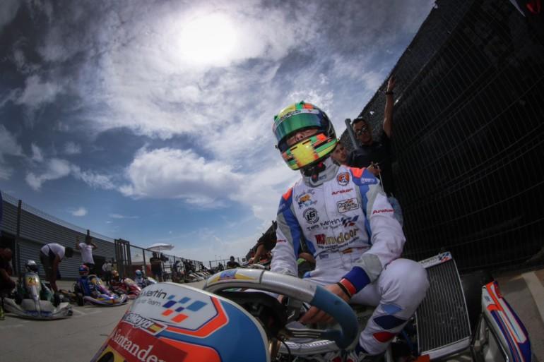 El piloto Rubén Moya aspira a coronarse campeón en la categoría Júnior del Campeonato de España de karting.