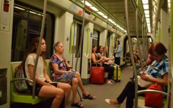 Metrovalencia desplazó en agosto más de tres millones de viajeros