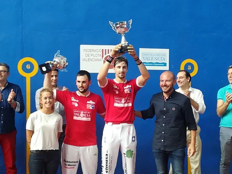 Puchol II y Roberto, campeones de la XII edición del Trofeo Diputación de Valencia de frontón