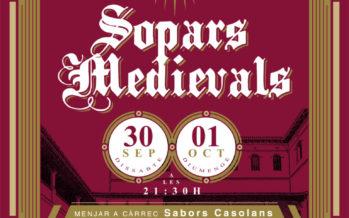Cenas medievales de Fira i Festes 2017 en el Palau Ducal dels Borja de Gandia