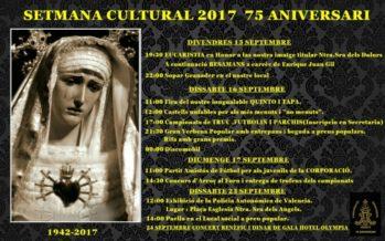 Los Granaderos de la Virgen de los Dolores del Cabanyal celebra su Semana Cultural