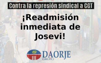 CGT convoca una concentración ante Grupo Daorje en Puerto de Sagunto