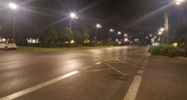Las avenidas del Puerto y Corts Valencianes y la Alameda ya tienen iluminación LED