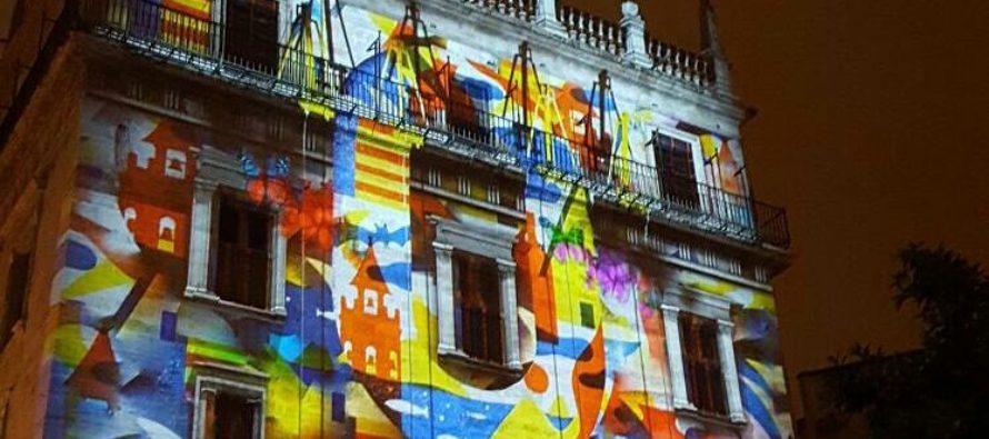 Música, luz y pólvora junto al Palau de la Generalitat