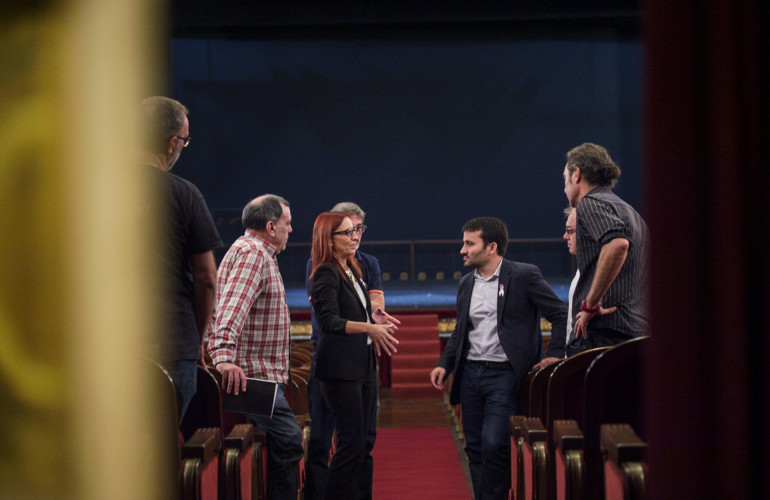 Amigó y Marzà en el Teatre Principal. Foto: Abulaila