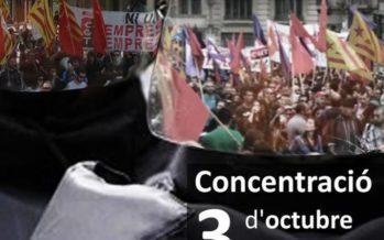 """Els """"sindicats combatius"""" de València secunden la Vaga General de Catalunya de demà"""