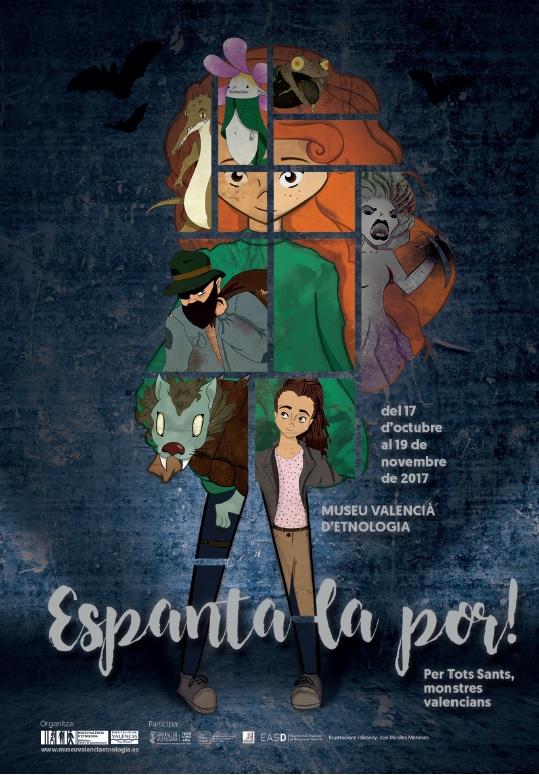 Cartel del ciclo «Espanta la por! Per Tots Sants, monstres valencians».