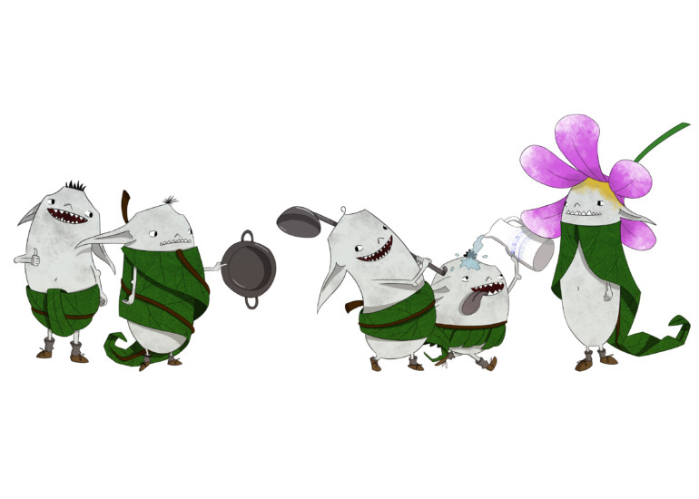 Ilustración de duendes.