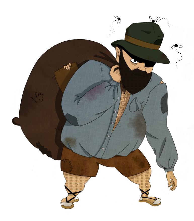 Ilustración del Hombre del Saco.
