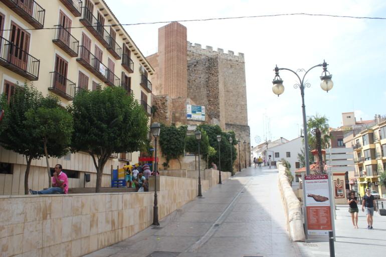 Castillo de Requena, en el centro de la ciudad.