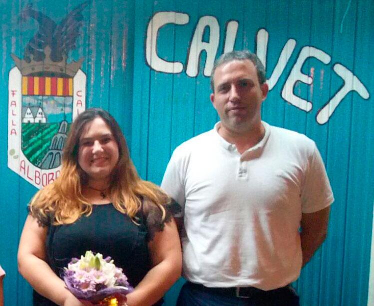 La Falla Calvet d'Alboraia proclama a Maika Lloria Gil com a Fallera Major