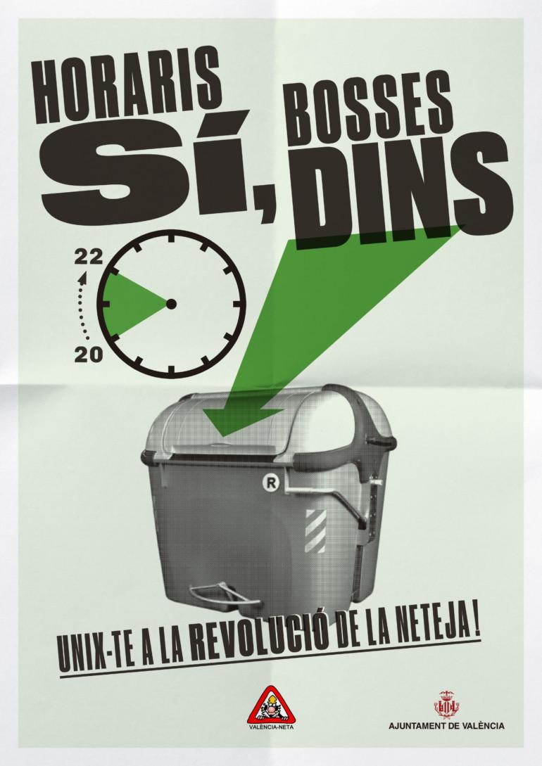 """Cartel de la campaña municipal """"La Revolución de la Limpieza"""""""