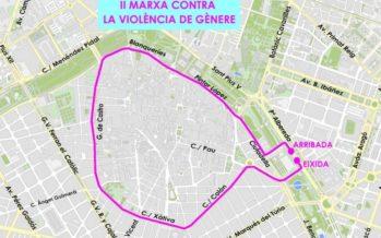 Valencia acoge la II Marcha contra la Violencia de Género