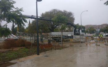 Comença l'enderrocament de les torres elèctriques per a obrir el parc de Malilla