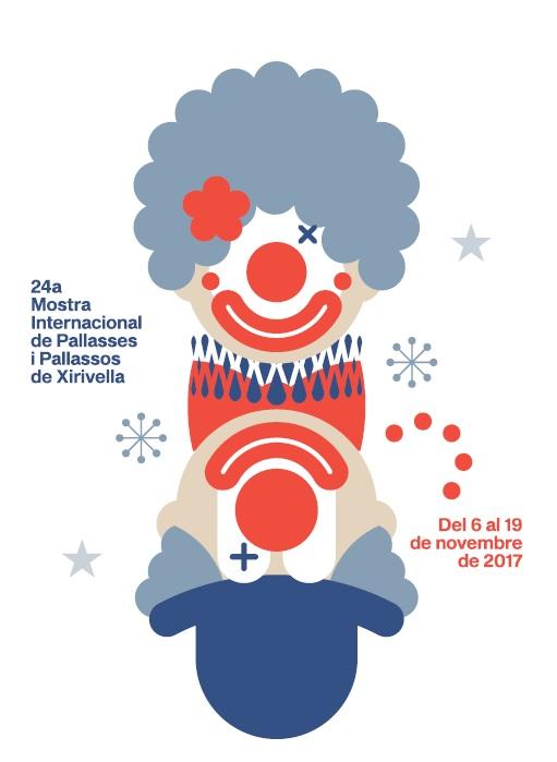 Cartell de la 24a Mostra Internacional de Pallassos i Pallasses de Xirivella
