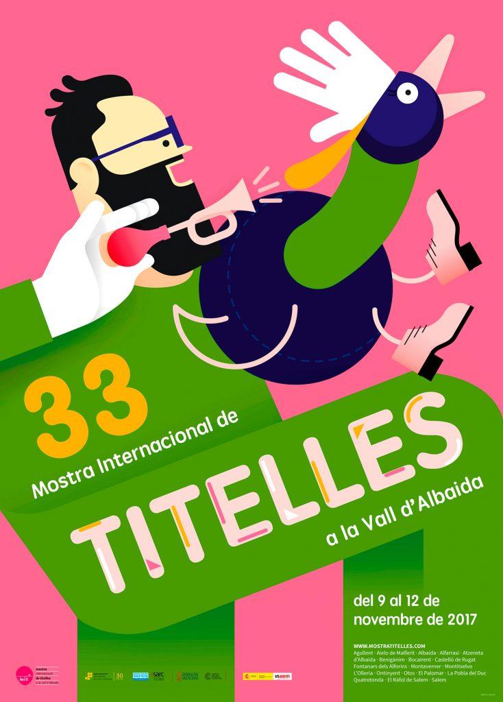 Cartell de la 33na Mostra Internacional de Titelles de la Vall d'Albaida