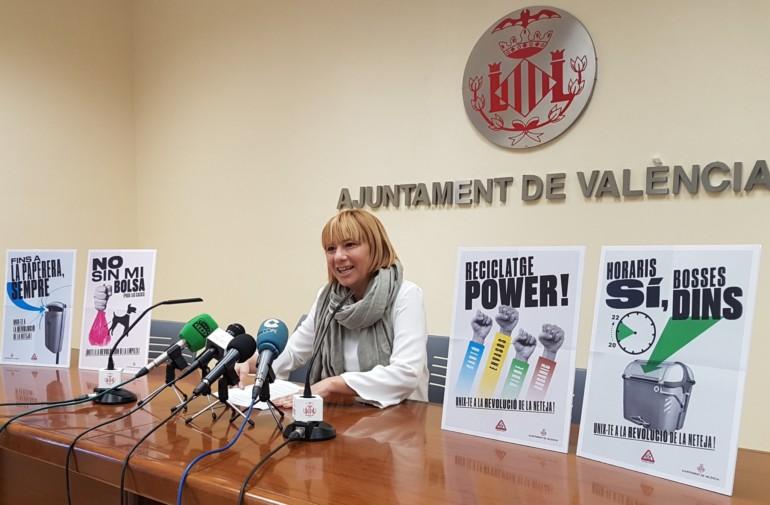 La Revolución de la Limpieza, invitación del Ayuntamiento de València a mantener la ciudad limpia.