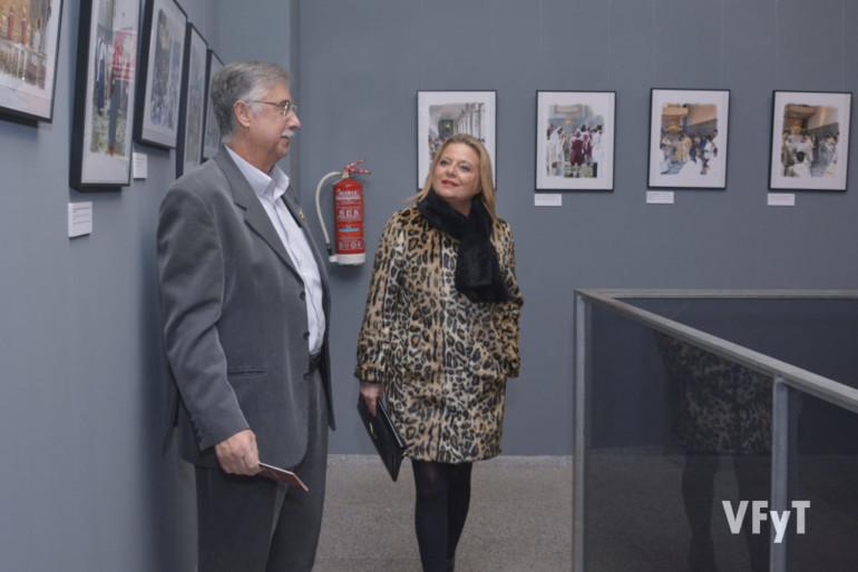 Pedro Molero y la concejala Amparo Picó