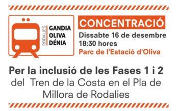 Compromís reclama la inclusió del tren de la costa en el Pla de Millora de Rodalies