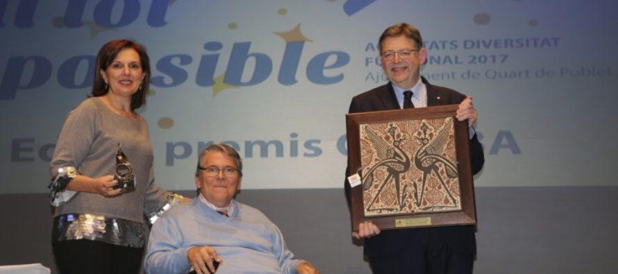 Puig recoge el Premio Qusiba 2017 otorgado a la Generalitat