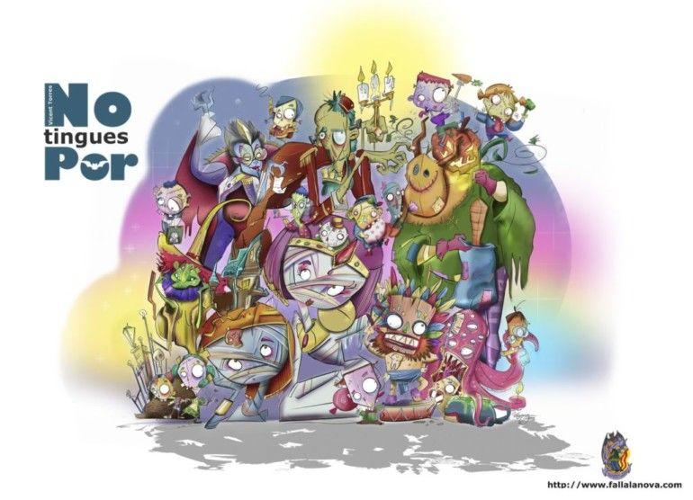 Boceto de la Falla Infantil 2018 de La Nova d'Orriols