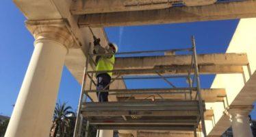 Els treballls de restauració del Jardí de Bofill duraran fins a Falles