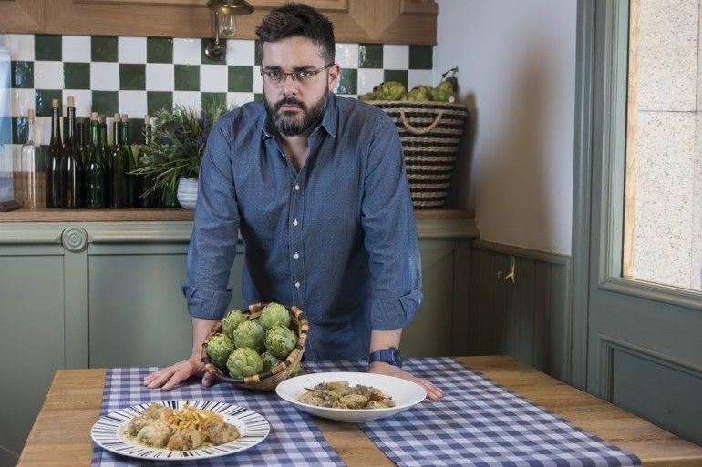 David Lecanda, chef. Su verdura estrella es la alcachofa.
