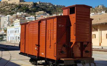 FGV restaura un antiguo vagón de mercancías de la línea Carcaixent-Dénia