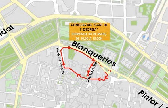 Cortes de tráfico por el Concurs del Cant de l'Estoreta 2018