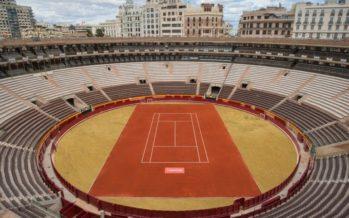 Espectacular transformación de la Plaza de Toros de València para la Copa Davis