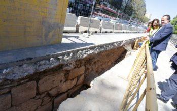 Afloran restos de las antiguas murallas de València en varias obras de la ciudad