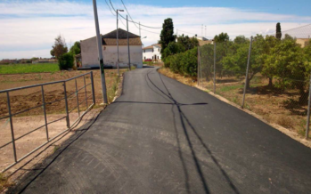 Conclou la pavimentació del carrer de Les Barraques de Castelló a Benifaraig
