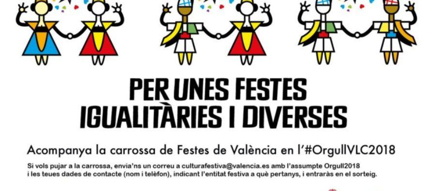 Fuset presenta la carrossa de Festes de València en el Dia de l'Orgull LGTBI