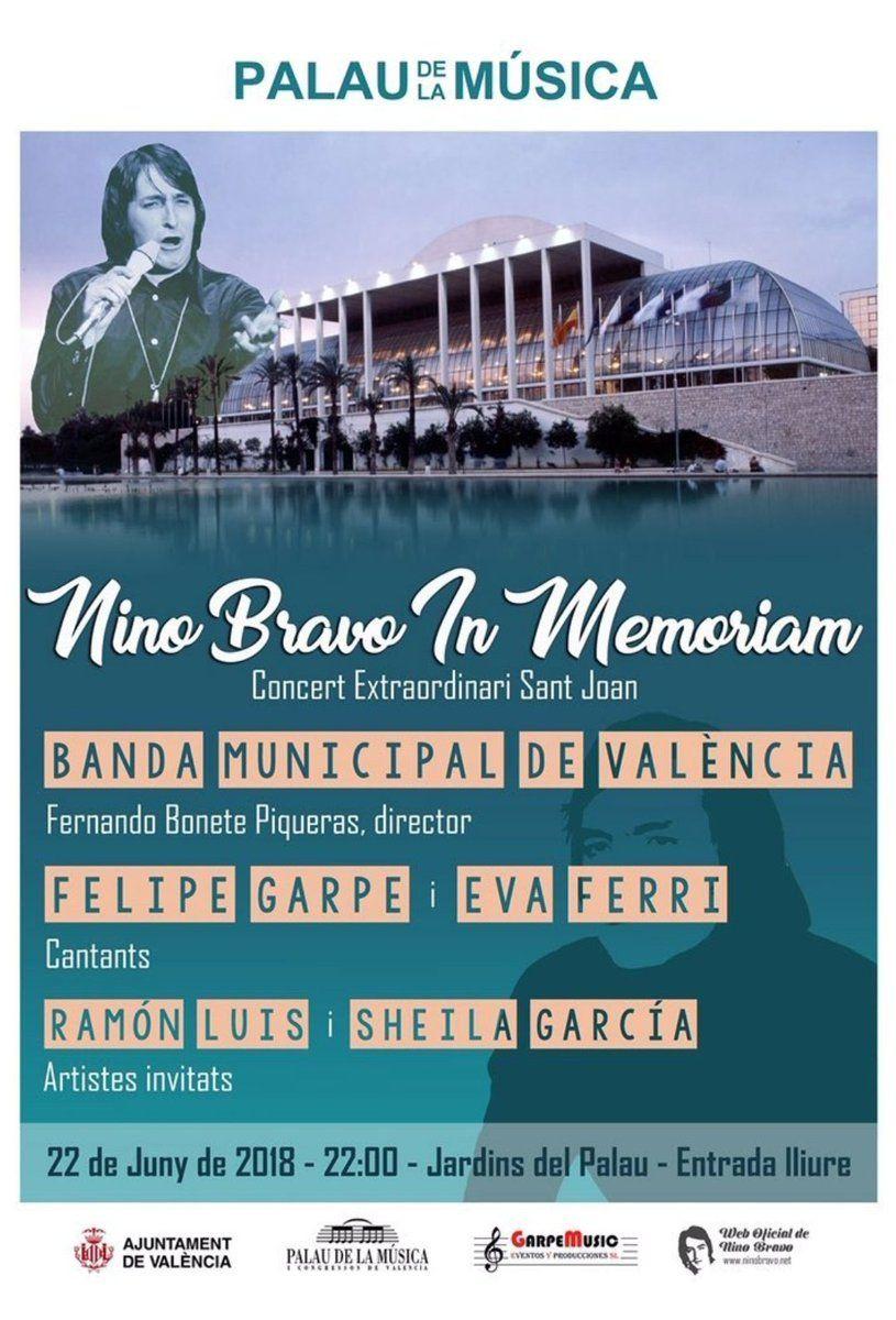 Cartel del último concierto en el que Fernando Bonete ejercerá como director titular de la Banda Municipal de València