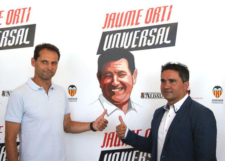 Fernando Giner i Juan Sànchez participaren recentment en un homenatge a Jaume Ortí. Foto: Javier Furió