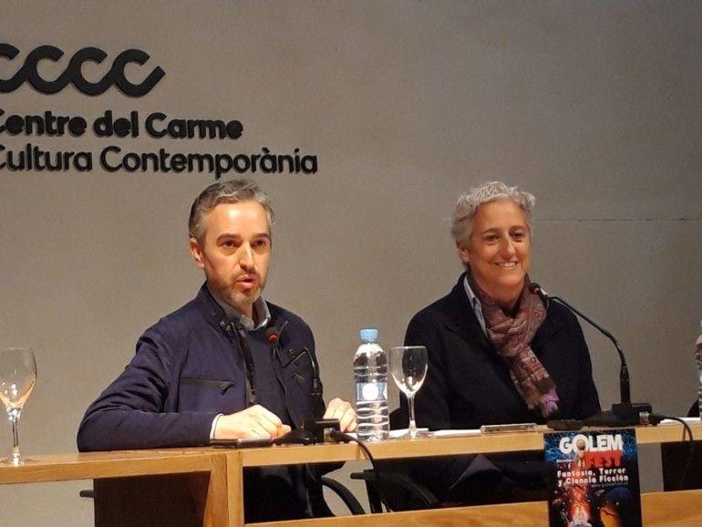 José Luis Pérez Pont ejerció de perfecto anfitrión en la presentación del Golem Fest,