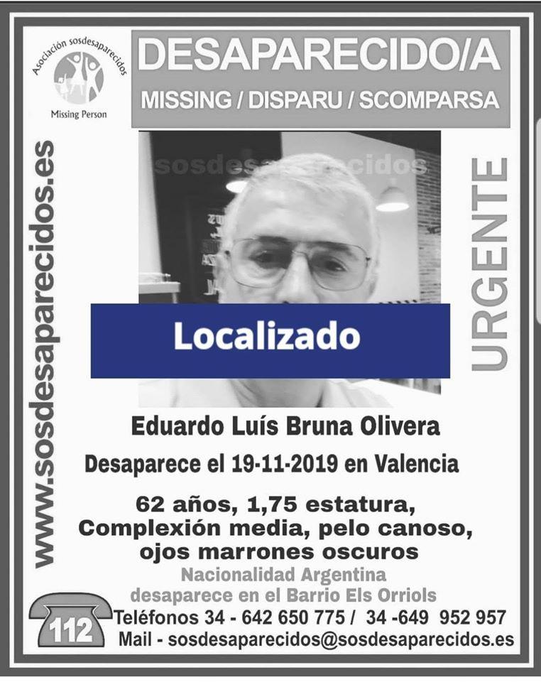 Localizado desaparecido Valencia