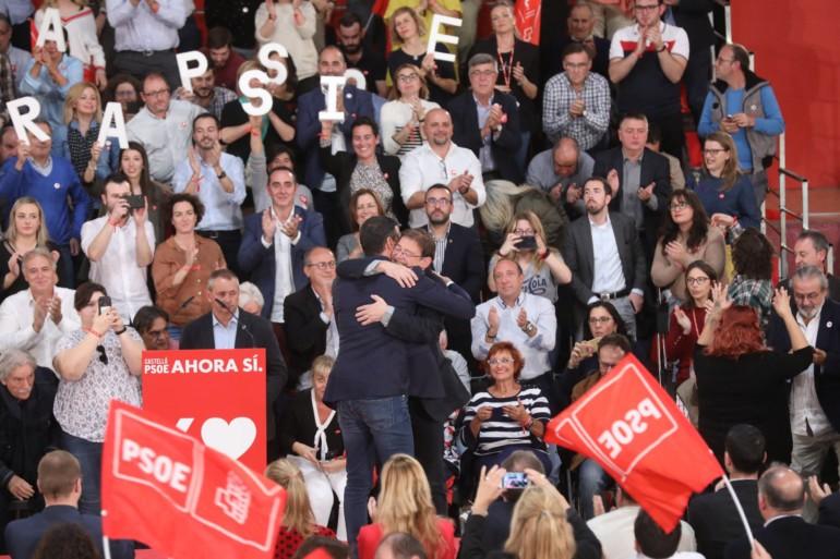 Ximo Puig y Pedro Sanchez mitin en Castellón