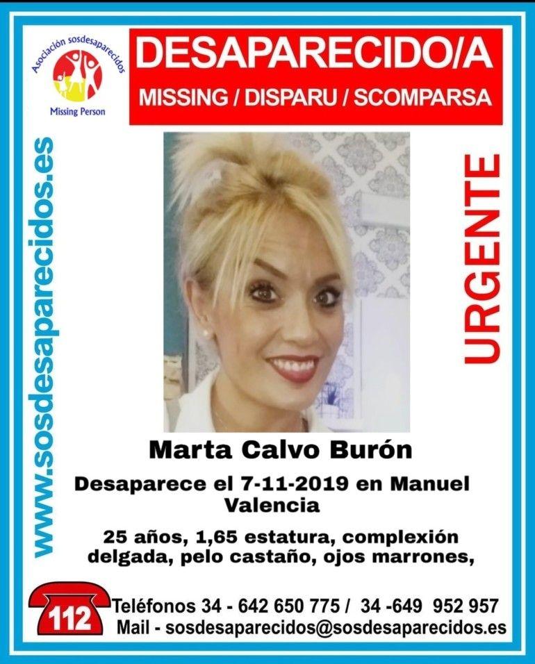 desaparecida en Manuel la joven Marta Calvo Burón