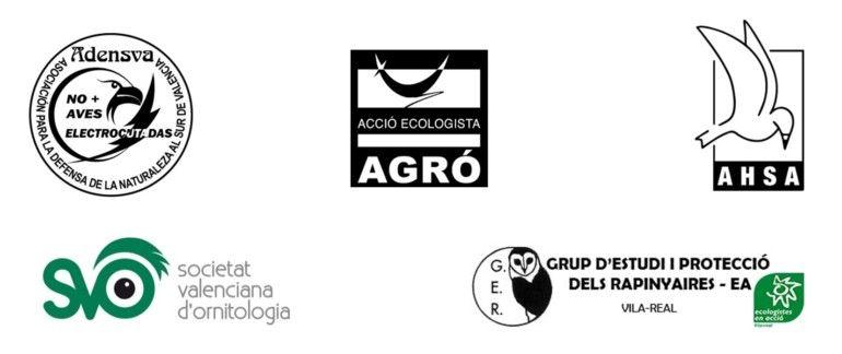 Asociaciones que firman la solicitud remitida a la Generalitat