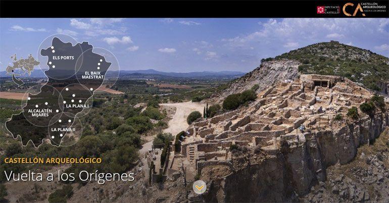 Portada de la web Castellón Arqueológico