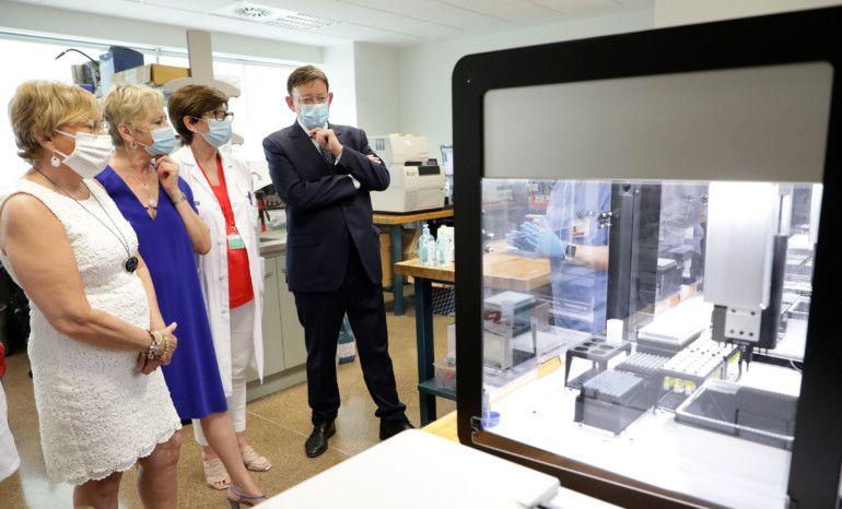 una estación robotizada en La Fe que incrementará en 2.000 las PCR diarias y permitirá alcanzar las 3.500