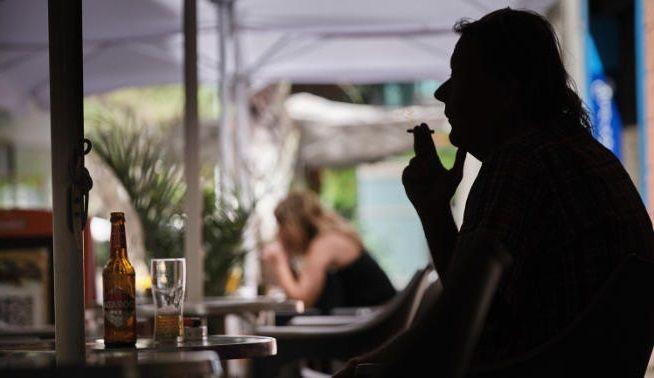 fumar terraza