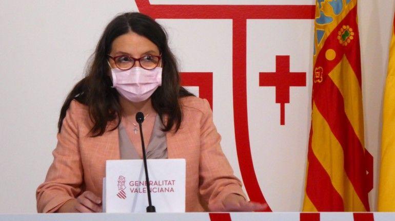 Mónica Oltra, en su comparecencia este pasado viernes para dar cuenta de los acuerdos del Consell.