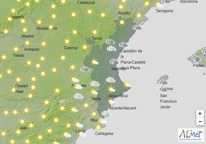 Previsión de AEMET en la Comunitat Valenciana para este lunes día 7 de septiembre
