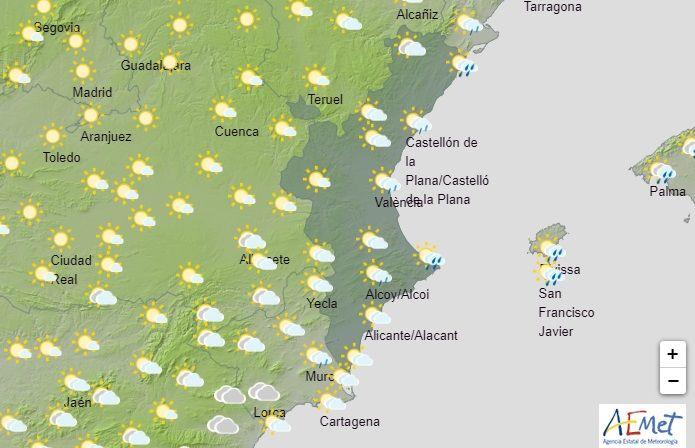 Previsión de AEMET en la Comunitat Valenciana para este martes día 8 de septiembre